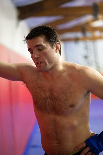 Chael Sonnen trains for his upcoming fight with Brian Stann at UFC 136.